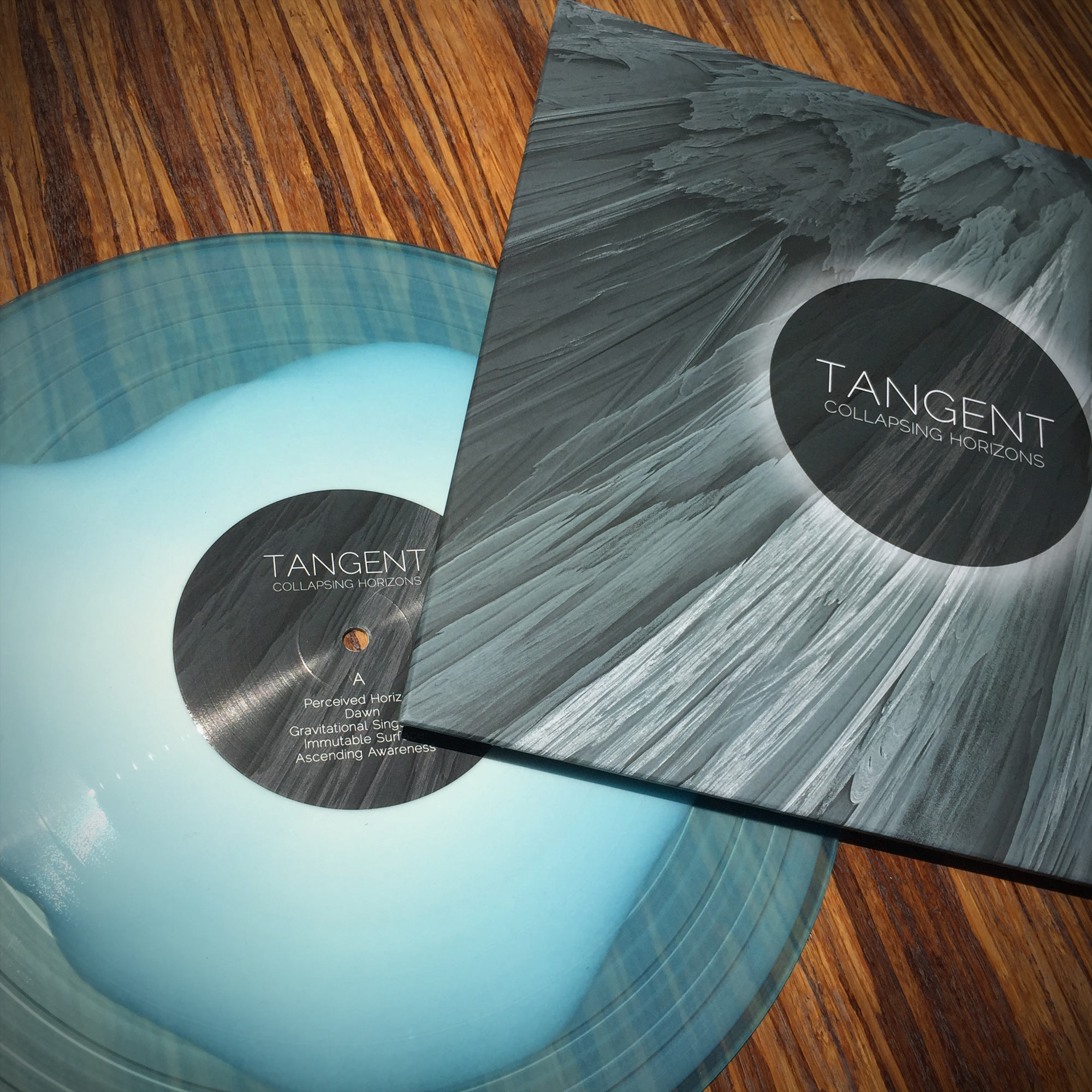 tangent - collapsing horizons - transparent blue w/wht lp