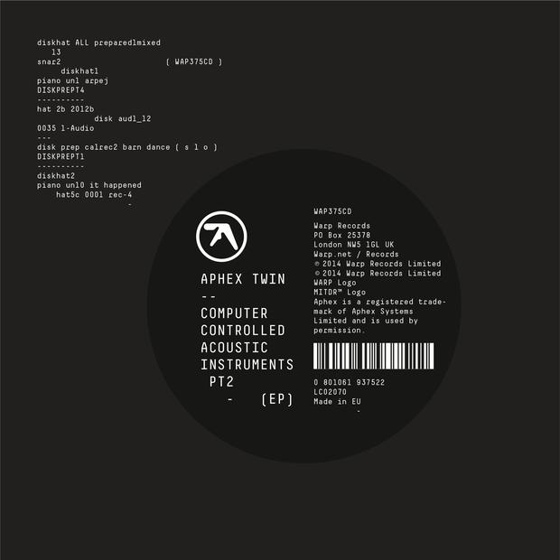 aphex twin - computer controlled acoustic instruments pt2 lp